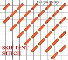 skip tent stitch needlepoint