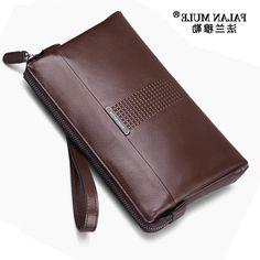 32.77$  Buy here - https://alitems.com/g/1e8d114494b01f4c715516525dc3e8/?i=5&ulp=https%3A%2F%2Fwww.aliexpress.com%2Fitem%2FHigh-Quality-Men-Wallets-Business-England-Style-Brown-Black-Handbags-Big-Capacity-Clutch-Bag-Men-Passport%2F32708941280.html - FALAN MULE High Quality Luxury Men Wallets Genuine Leather Wallet Men Male Clutch Handy Bag England Fashion Style Card Holder