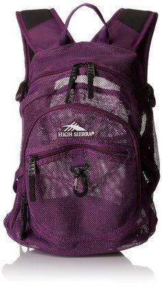 High Sierra 5416-532 19.5x13x7-Inch Airhead Mesh Backpack (Plum)