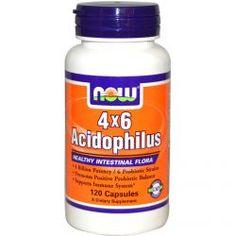 Now Foods, 4X6 Acidophilus, 120 Capsules, Diet Suplements 蛇