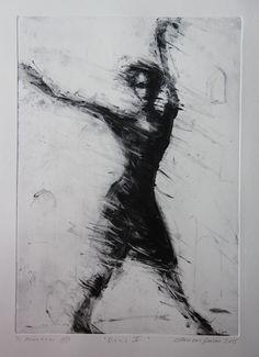 """DANS"" ""Dance"" Monotypi/Monoprint Svein Erik Larsen"