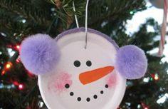 weihnachtsbasteln mit kindern schneemann christbaum dekorieren