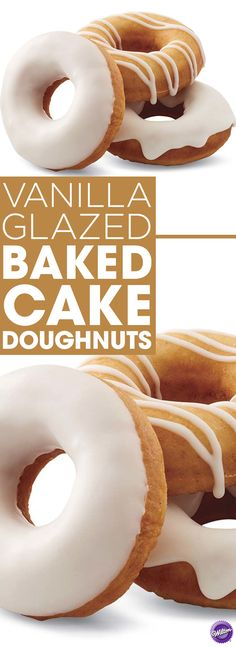 Vanilla Glazed Baked Cake Donuts Recipe - Learn to make baked donuts topped with vanilla glaze. This donut recipe is so easy to make and can be done even by a novice baker!