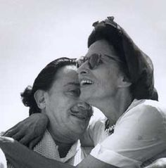 Dali and Gala: their romance was most unusual, only natural for such extraordinary personalities Jean Arp, Alberto Giacometti, Max Ernst, Rene Magritte, Muse, Salvador Dali Art, Surreal Artwork, San Fernando, Couple Goals