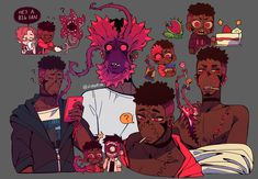 """""""Dion is a nightmare that can open his face and parts of his body 😳"""" Fantasy Character Design, Character Design Inspiration, Character Art, Art Sketches, Art Drawings, Wow Art, Cartoon Art Styles, Art Reference Poses, Horror Art"""