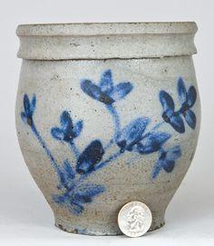 Heatwole or Suter Stoneware Jar, Rockingham Co. Rockingham County, Antique Stoneware, Glazes For Pottery, Glazed Pottery, Large Flowers, Preserves, Crock, Planting Flowers, Virginia