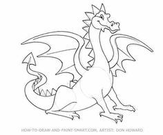 Dragons how to draw a dragon for kids drawing pinterest awesome dragons to draw how to draw a dragon draw a fierce and funny ccuart Choice Image