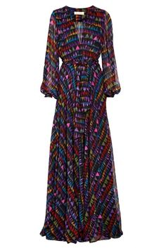vestido longo de manga longa