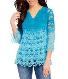 Shop for Reba Ombre Lace Sheer Sleeve Tunic at Dillards.com. Visit Dillards.com to find clothing, accessories, shoes, cosmetics & more. The Style of Your Life.