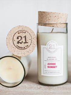 Circle 21 Candles Packaging Design || we *really* love everything about this site- simple, white background, great 'super graphic' images when you click on the home page images, and I like the collage feel of the images on this page