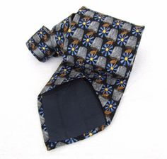 """Ermenegildo Zegna Tie Blue Floral Impressionist Exclusive Daisy Silk 61"""" Necktie #ErmenegildoZegna #NeckTie"""