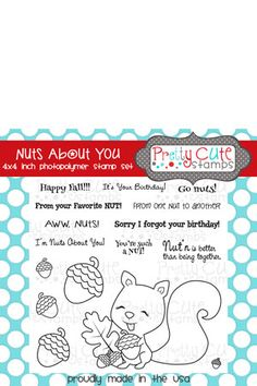 Pretty Cute Stamps Nuts About You 4x4 Stamp Set