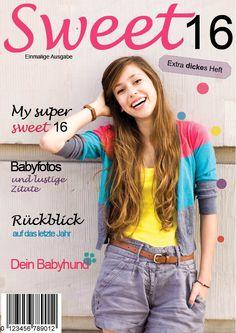 Geschenk zum 16.Geburtstag #Zeitschriftmachen #sweet16 #sweetsixteenr #persönlichesGeschenk www.jilster.de