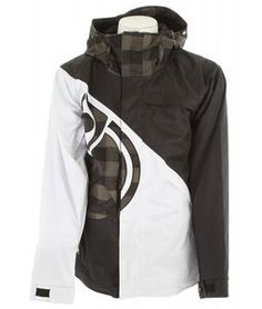 Save on Nomis Diagonal Shell Snowboard Jacket Black/White/Black Box Plaid - Mens 2012 no3dgs02bwb12 - This is a possible design to the collection