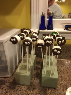 Sheep on a stick. Used for a How to Train your Dragon party.