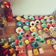 Today's view. #handmade #etsy #feltflowers #flowers #makersgonnamake