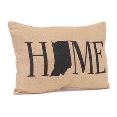Indiana Home Burlap Pillow   Kirklands