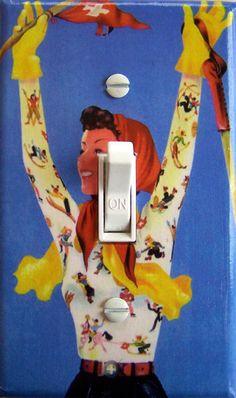 SWISS GAL Vintage Ski Poster Switch Plate (single)  - - FREE Shipping - -. $12.00, via Etsy.
