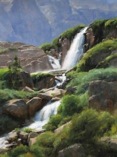 Timberline Falls in Rocky Mountain National Park, near Estes Park, Colorado.  www.VisitEstesPark.com  Artist Dave Santillanes finds success capturing Colorado outdoors - Loveland Reporter-Herald