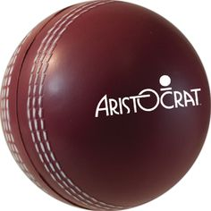 Personalized Cricket ball shaped stress reliever with your logo or message is a memorable and fun way to promote your charity at a Cricket match.