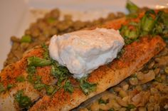 elegant fish dinners | Fish on Lentils: An elegant meal, Fast! | CURLS AND CARROTS