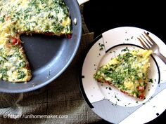 Rosemary Ham Pepper and Arugula Frittata #recipe #eggs #frittata via unihomemaker.com