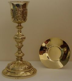 Neo-Baroque Chalice and Paten from Luzar