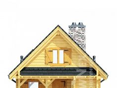 Jaskółka II - Domy drewniane letniskowe - DREWNEX Home Fashion, Cabin, House Styles, Home Decor, Projects, Decoration Home, Room Decor, Cabins, Cottage