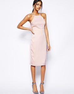 asos vestido corto rosa