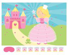 Klebespiel Prinzessin