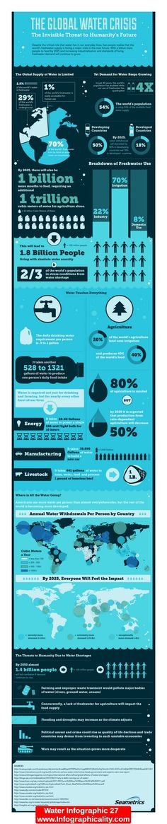 The Global Water Crisis http://infographicality.com/water-infographic-27/