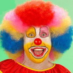 Regenboog clownspruik