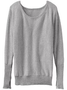 Mudra Cashmere Sweater - Body-warming cashmere cozies up to the oversized sweater look with rib-trim accents.