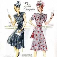 Para Ti Magazine 1939 #vintagemagazine #fashionillustration #fashionhistory #fashion #vintage #vintagestyle #vintagedress #1930s #1930sfashion by myvintagevogue