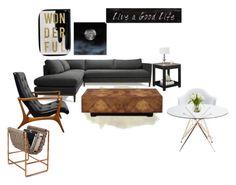 """Sin título #7"" by aniita0616 on Polyvore featuring interior, interiors, interior design, hogar, home decor, interior decorating, Altra, Oliver Gal Artist Co., 3R Studios y John-Richard"