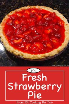 Easy Fresh Strawberry Pie Fresh strawberry pie is a wonderful summer treat. A simple killer recipe everybody will love. via 101 Cooking for Two Strawberry Upside Down Cake, Fresh Strawberry Pie, Strawberry Recipes, Pie Recipes, Sweet Recipes, Dessert Recipes, Cooking Recipes, Easter Recipes, Sweet Pie