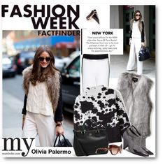 """Love it! Protect your leather investment with WhooHoo-Clean Leather Care, available on http://www.amazon.com/Leather-Conditioner-Investment-Furniture-Leather/dp/B00EECWG7A. """"Fashion week look with: Olivia Palermo"""" by vkmd on Polyvore"""