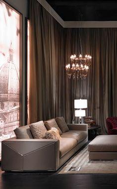 Fendi Casa, FF CASA Versailles 4 seater sofa and Eos armchairs