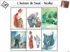 L'histoire de Saint-Nicolas Cycle 2, Theme Noel, Edd, Saints, Images, Painting, Fictional Characters, Branches, French