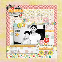 #scrapbook #layout #scrapbooking Pink Paislee