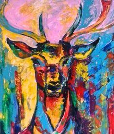 Deer , acryl on canvas, 100x120