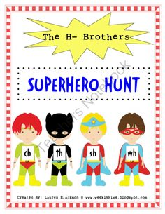 H Brother Superhero Hunt  from The Weekly Hive on TeachersNotebook.com (12 pages)