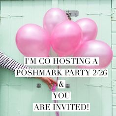 I'm co-hosting 2/26 & you are invited!  Please join my lovely Pffs & I as we co-host a Poshmark party 2/26 theme TBD  Other