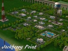 Mod The Sims - Jackferry Point - *New Base Game/ No CC neighborhood*