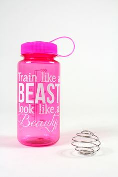 Train Like a Beast Water Bottle in Rose Quartz