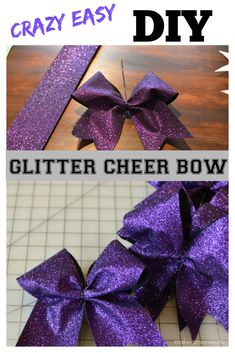 Do-it-yourself Solar Power - A Primary Manual For Beginners Easy Diy Glitter Bow - Making Montecito Cheerleading Hair Bows, Cheer Hair Bows, Diy Hair Bows, Diy Bow, Ribbon Bow Diy, Bows With Ribbon, Sparkly Cheer Bows, Cheerleading Team Gifts, Ribbons