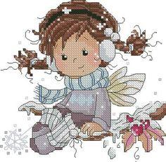Зимняя фея - Новый год и Рождество - Схемы вышивки - Иголка