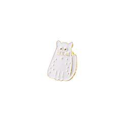 Pin's chaten laiton doré et émailde couleur blanc. Taille du pin's…