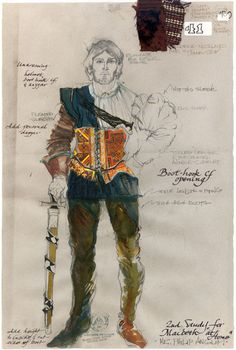 Carrie Robbins Designage Inc. Costume Design Sketch, Tam O' Shanter, Fairy Tale Costumes, Drawing Studies, Diy Art Projects, Theatre Costumes, Character Illustration, Fashion History, Fashion Sketches