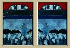"""still rainin'"" -diplotype-glycéro/papier.2x(90x60)cm-PHILIPPE MEZINSKI-"